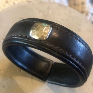B1904 Silpada Brown Leather Cuff